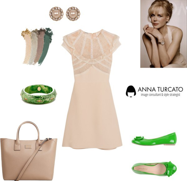 Greenery for Spring Girl by annaturcato featuring a long strap purse