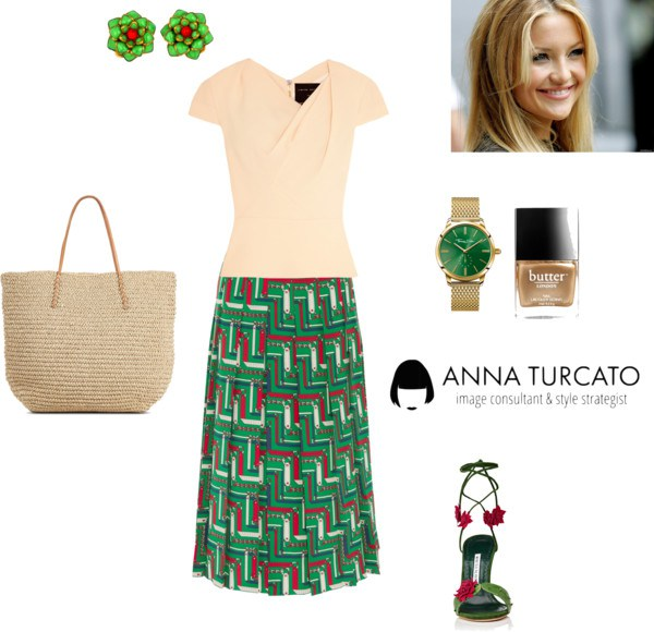 Greenery for Spring Girl by annaturcato featuring a spring outfit
