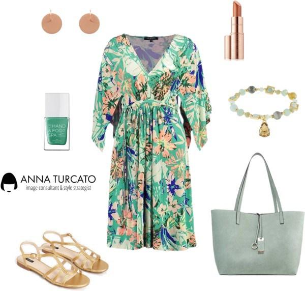 Floral Lady di annaturcato contenente strappy sandals