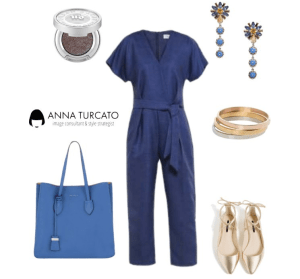 The jumpsuit by annaturcato featuring a denim jumpsuit