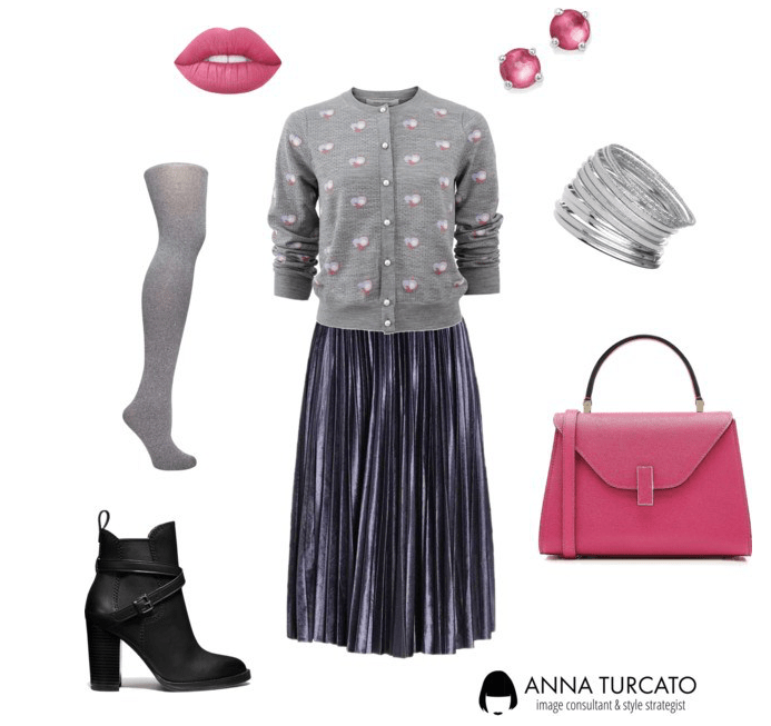Chic Look by annaturcato featuring a pink leather purse