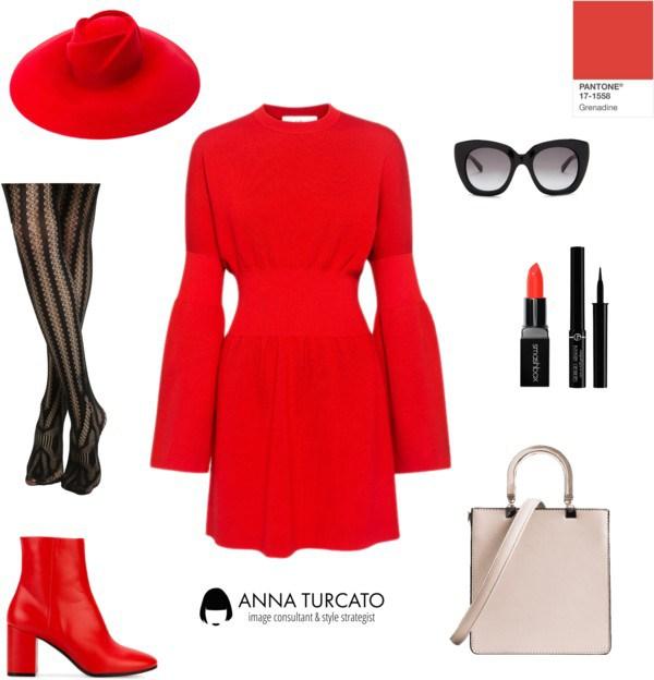 Anna Turcato Red Grenadine
