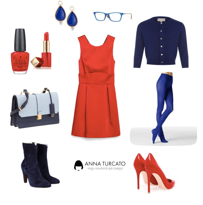 The red dress di annaturcato contenente leather handbags
