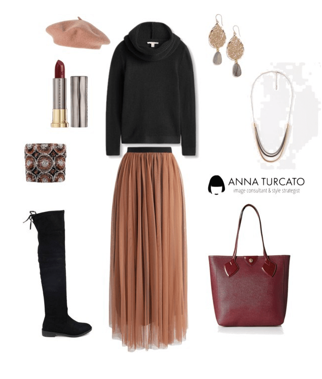 Tulle Pleated Skirt by annaturcato featuring a wrap poncho