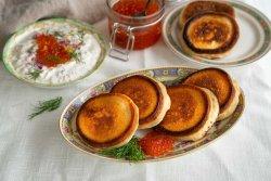 Blini with caviar