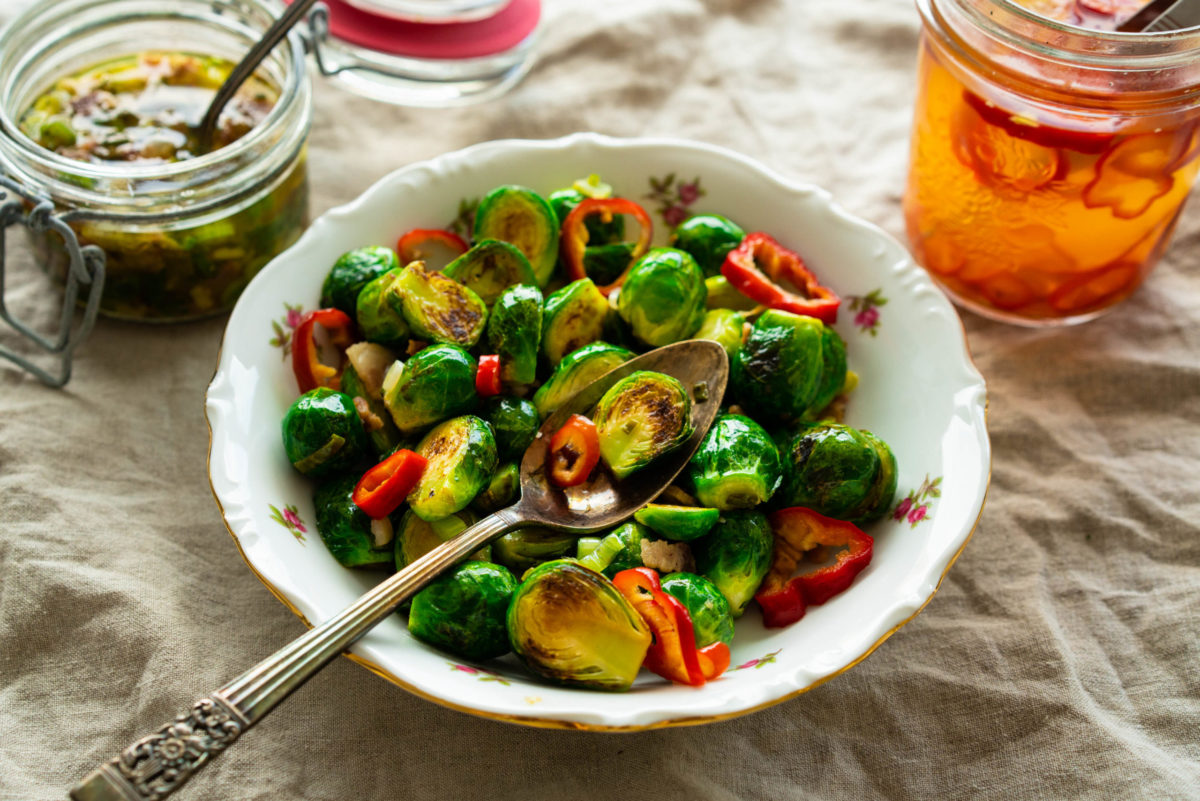 Sauteed Brussels