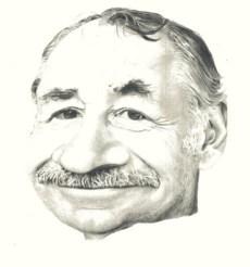 Caricature of Philippe Noiret