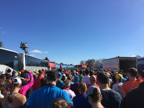 Walking to the start line