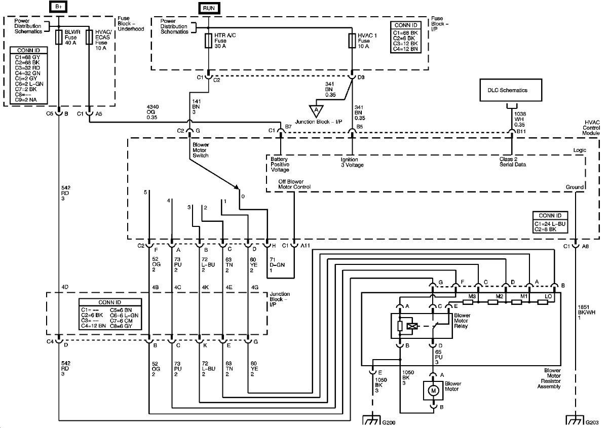 Chevy Silverado Blower Motor Resistor Wiring Diagram