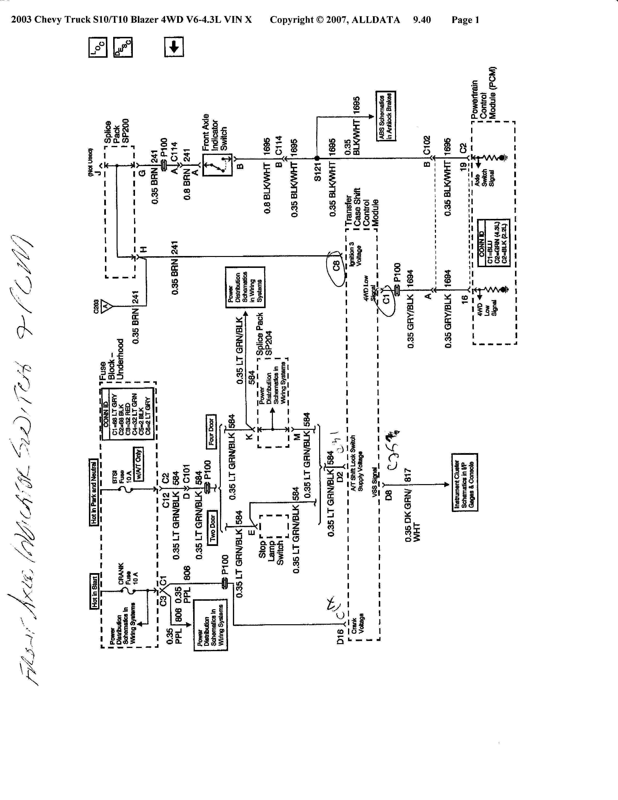 Diagram Wiring Diagram For Chevy 4x4 Actuator Full
