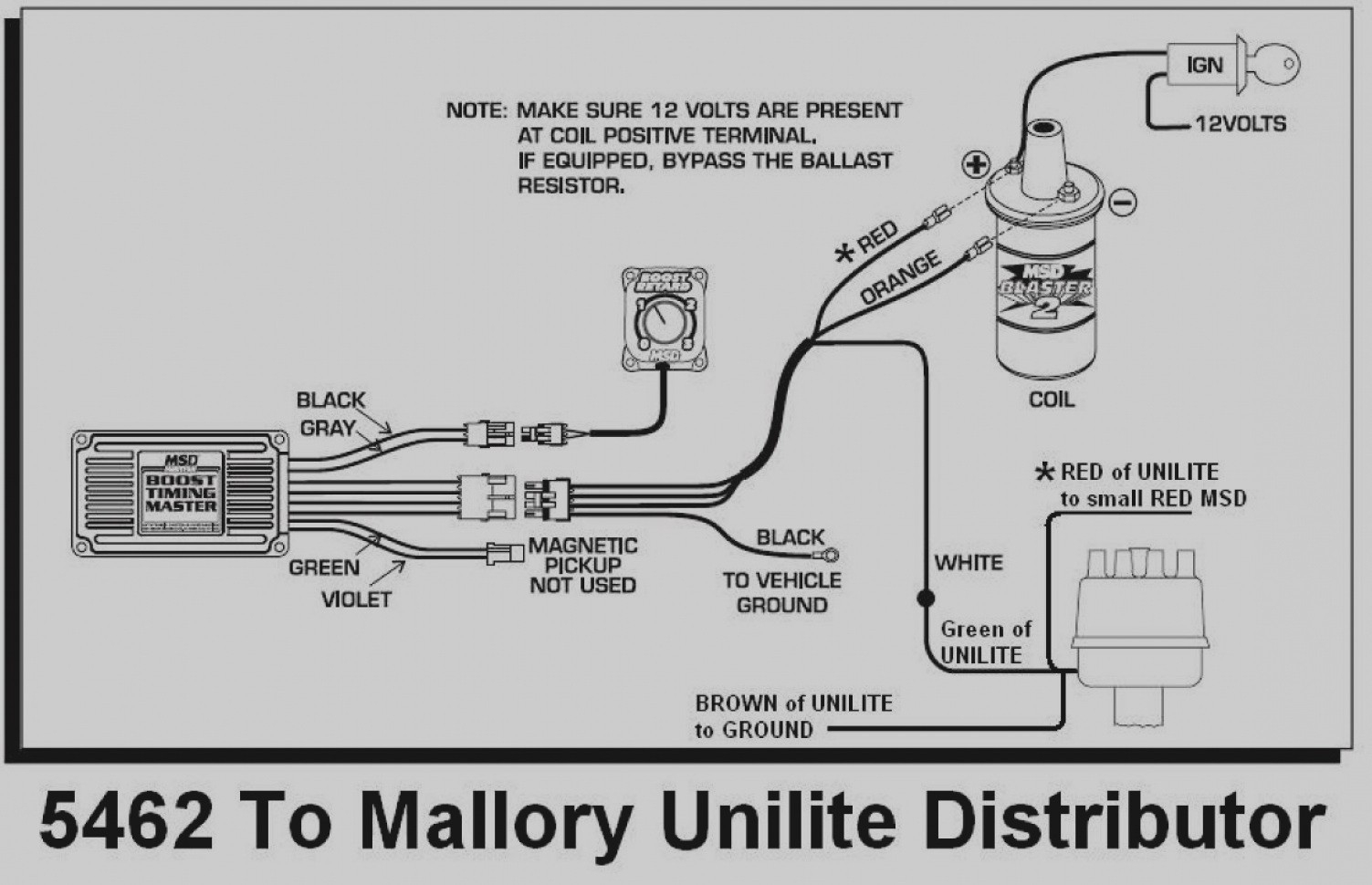 Mallory Comp Ss Distributor Wiring Diagram