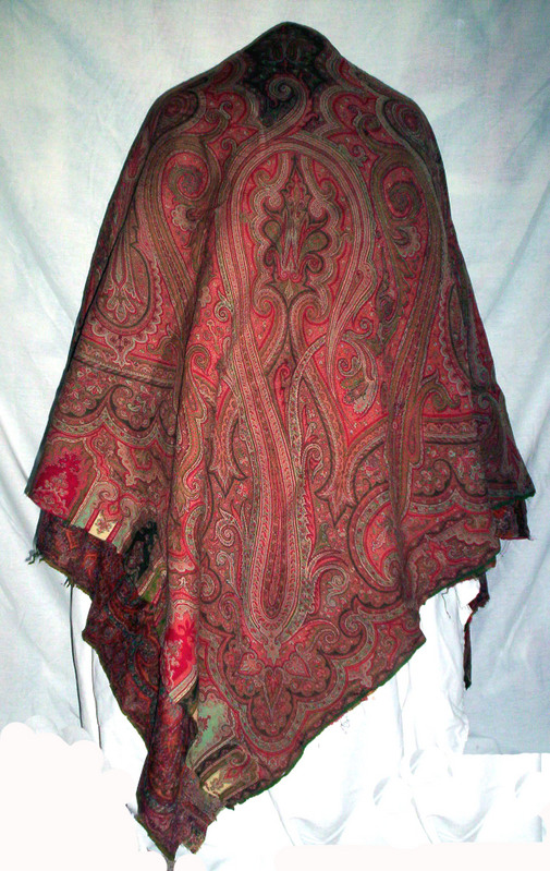 Paisley family shawl, possibly French