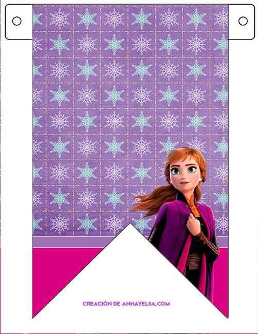 Frozen 2 banderines para imprimir