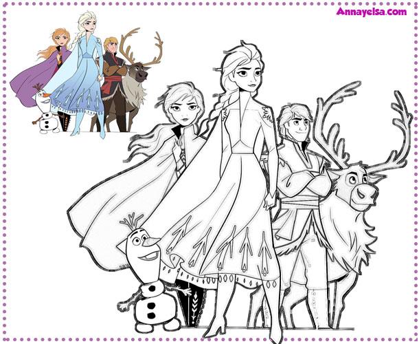 Imagenes para colorear frozen personajes