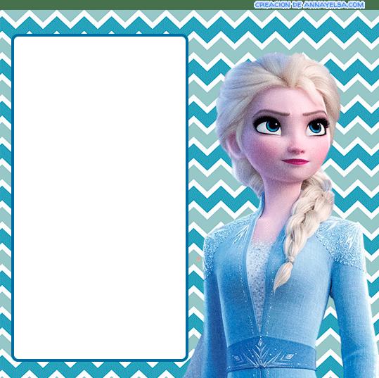 Modelo Invitaciones de Frozen II