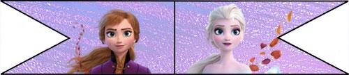 Topper banderines Frozen 2