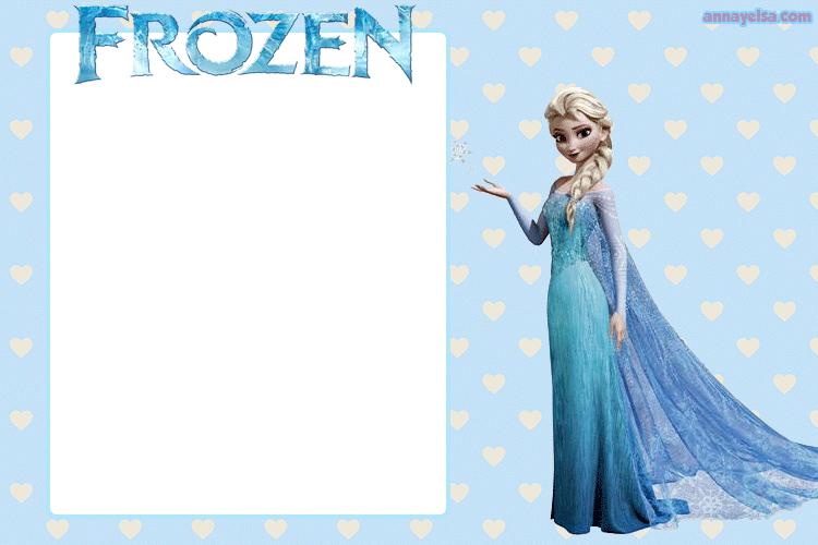 Invitaciones de Elsa Frozen para Imprimir