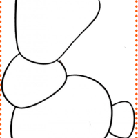 Molde figura de Olaf y nariz de zanahoria