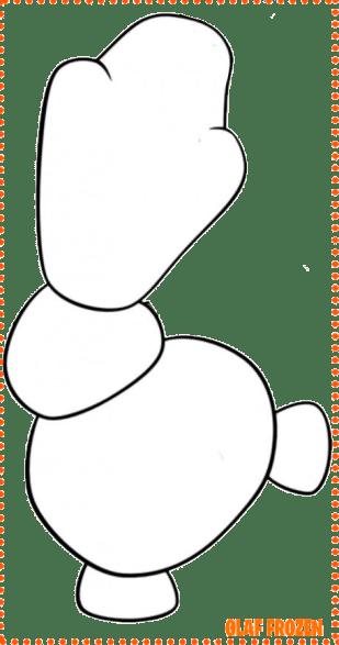 snowman frozen mold