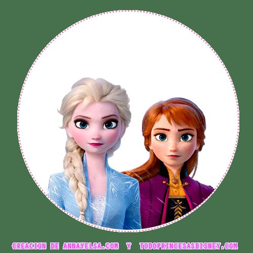 Etiquetas Elsa y Anna frozen 2