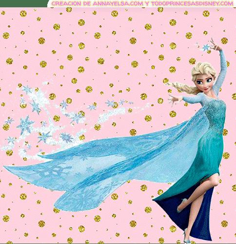 Etiquetas Frozen Elsa
