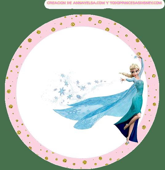 Etiquetas circulares de Frozen