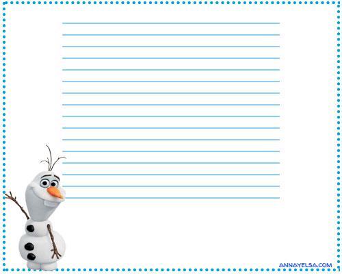 Olaf papeles de carta