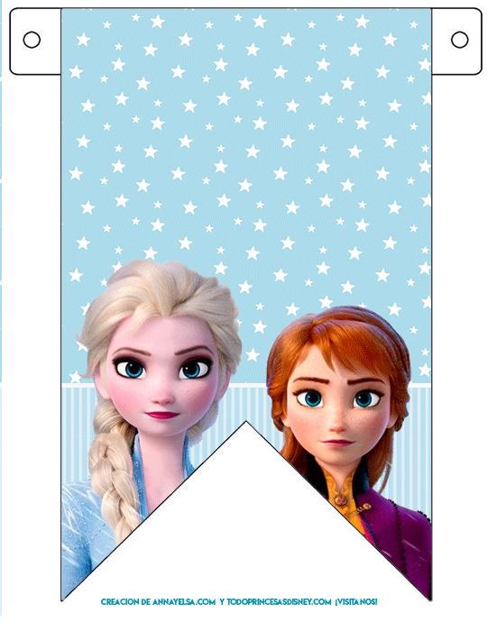 Banderines frozen 2 para imprimir