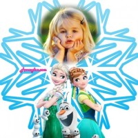 Fotomontaje copo de nieve Frozen