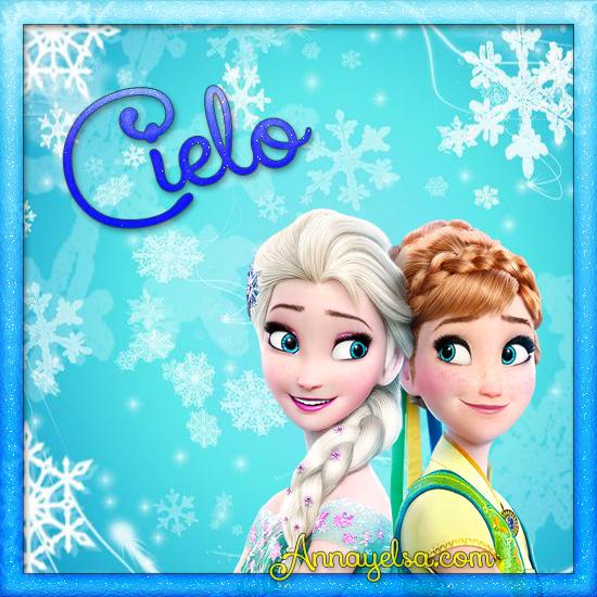 Imagen de Frozen con nombre Cielo