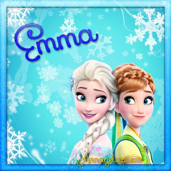 Imagen de Frozen con nombre Emma