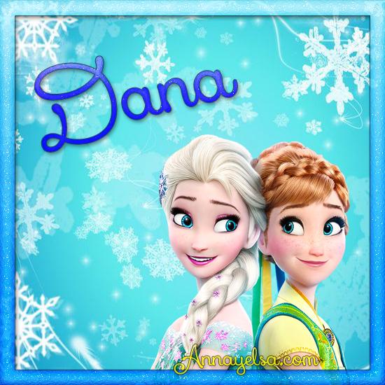 Imagenes de Frozen con nombre Dana