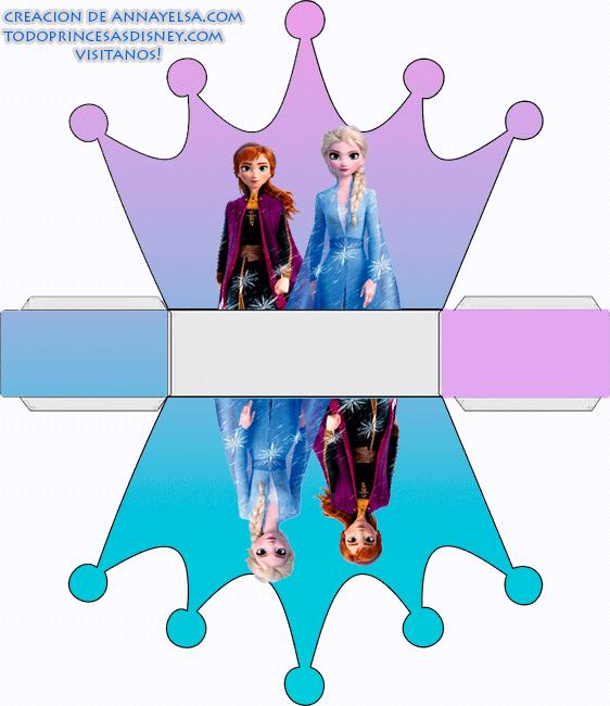 Caja corona Frozen ELSA Y ANNA