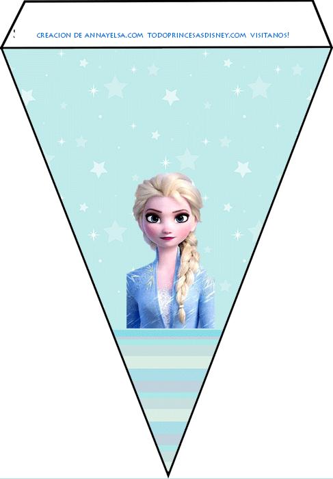 Banderines Elsa Frozen 2