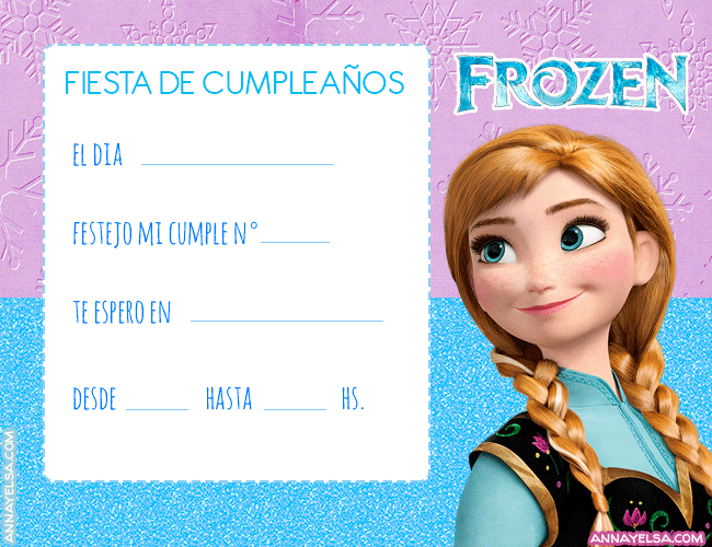 Convite Frozen Anna Invitaciones