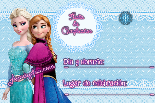 Invitaciones De Cumpleaños De Frozen Para Descargar Gratis