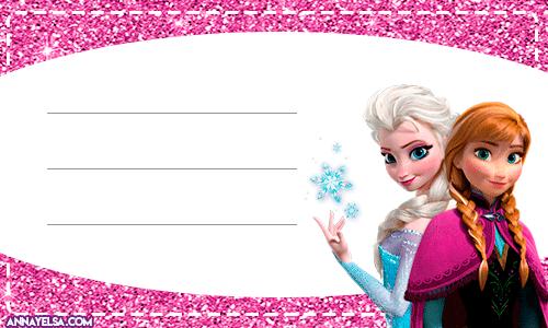 Etiquetas de Frozen para imprimir