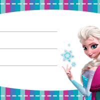 Etiquetas escolares de Frozen  Elsa, Anna y Olaf