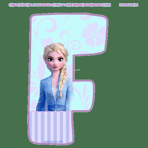 Letras Elsa Frozen para imprimir