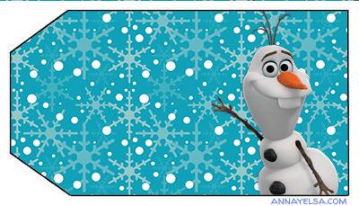 Frozen tarjetitas OLAF