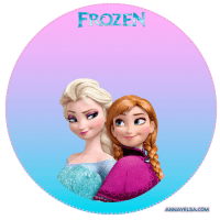 Stickers Elsa y Anna FROZEN