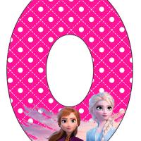 Numeros de Frozen para descargar e imprimir
