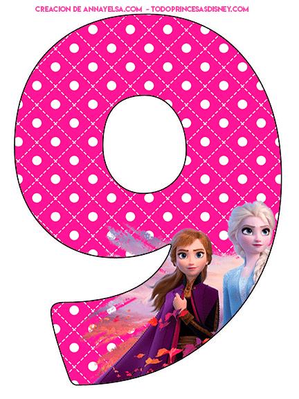 frozen numbers print