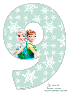 9 Numbers Frozen fever