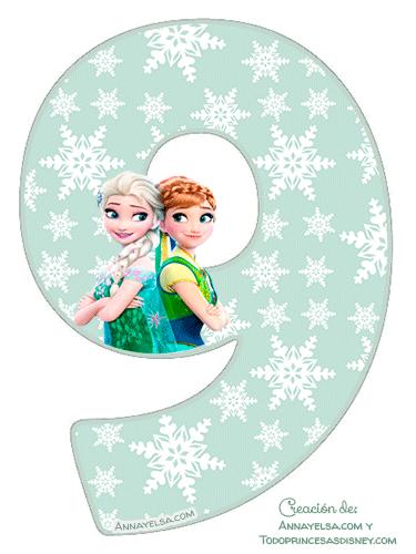 9 Numbers Frozen fever