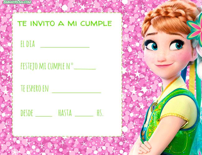 Anna Frozen convites