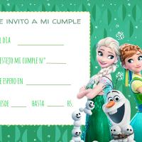 Invitaciones de Cumpleanos de Frozen