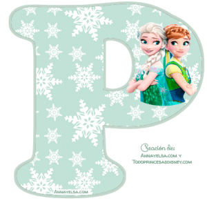 Frozen Fever Letters Alphabet