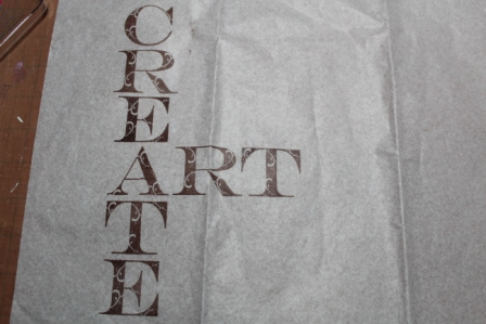 Create ART Everyday - Stenciled, Stamped and Inked Canvas - 003