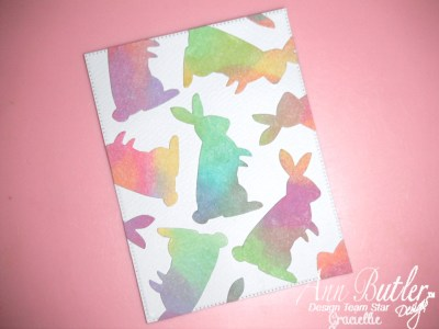 Watercolor Easter Bunny Card